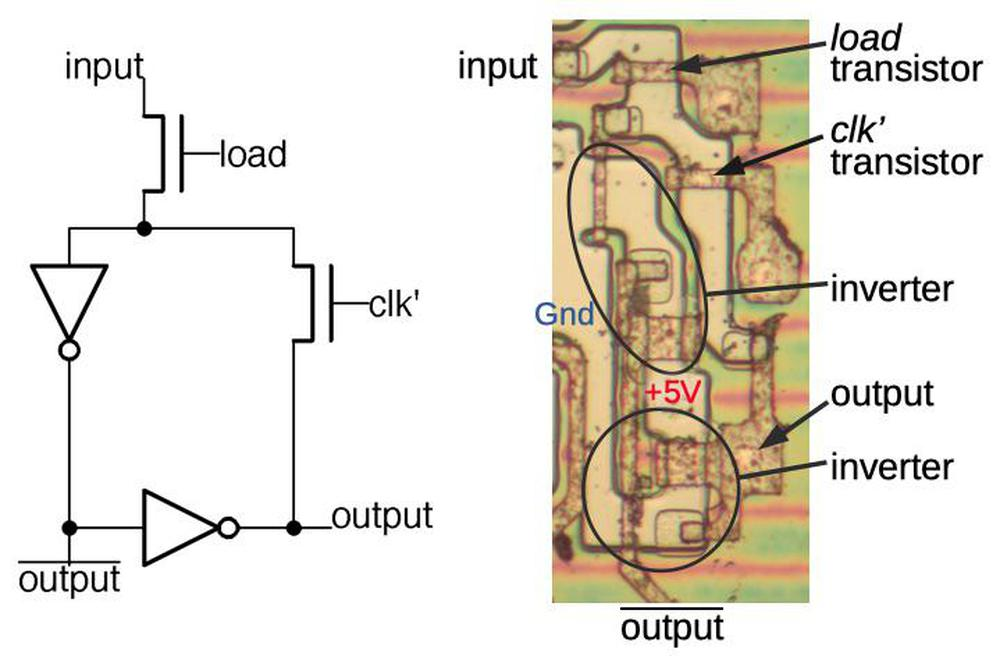 Implementation of a latch in the 8086's ALU.