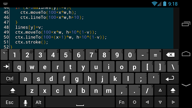 JavaScript on the go: Programming from your phone