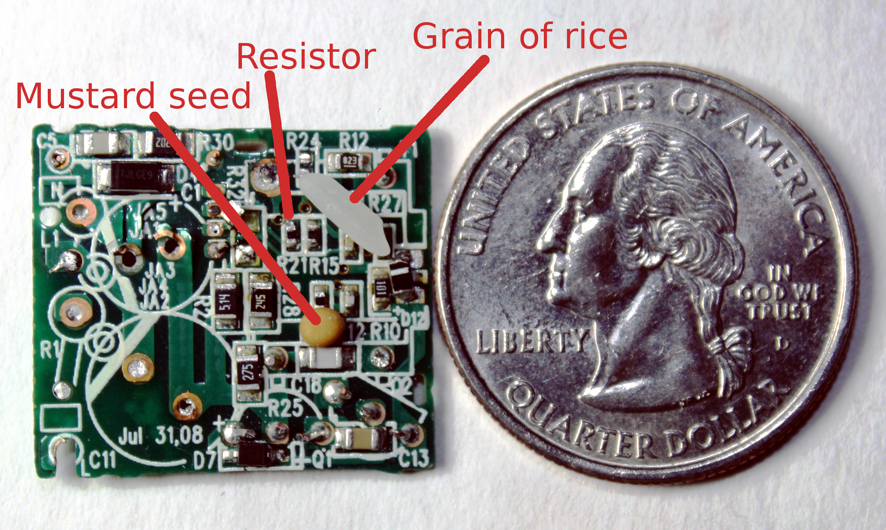Apple Iphone Charger Teardown Quality In A Tiny Expensive Package 12 Volt Car Battery Diagram With Cutaway And Labeled Components Circuit Board Compared To Mustard Seed Grain Of Rice
