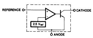 TL431 block diagram from Fairchild datasheet