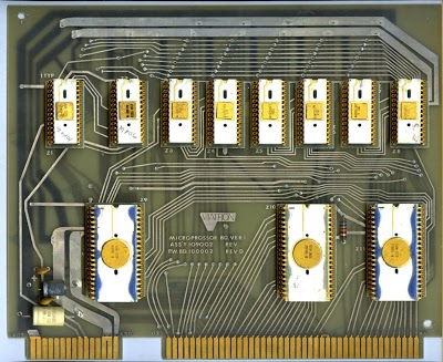 One of the three CPU boards from the Viatron System 21 terminal. Photo courtesy of UMMR.