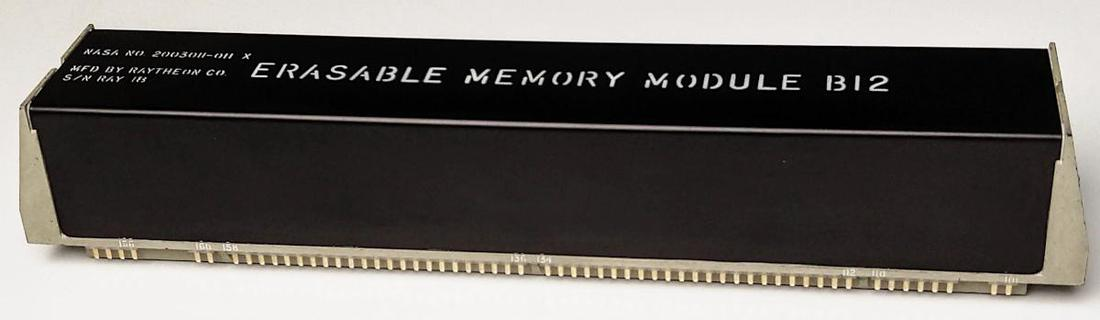 For RAM, the Apollo Guidance Computer used this 2 kiloword core memory module.