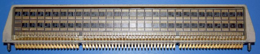 Much of the address decoding is implemented in logic module A14. Photo courtesy of Mike Stewart.