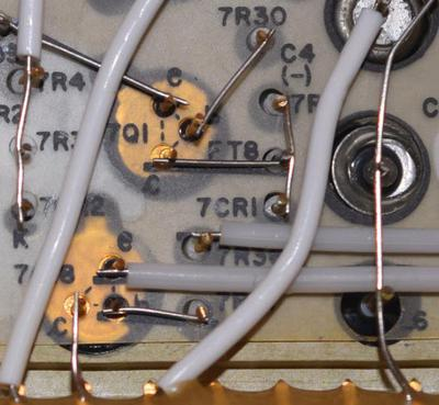 A closeup of the Erasable Driver module, showing the cordwood construction. Photo courtesy of Mike Stewart.