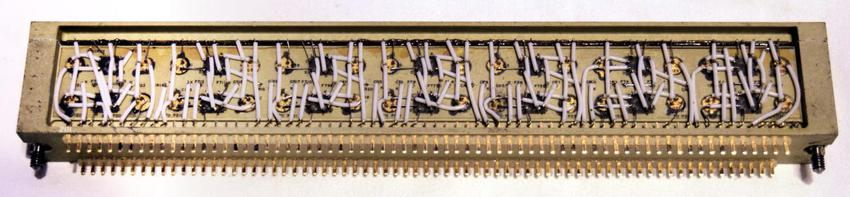 The current switch module. (This is from the CHM as ours is encapsulated and there's nothing to see but black epoxy.) Photo courtesy of Mike Stewart.