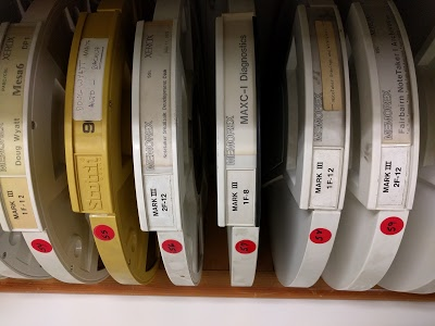 Some old Xerox Alto hard disks at PARC.