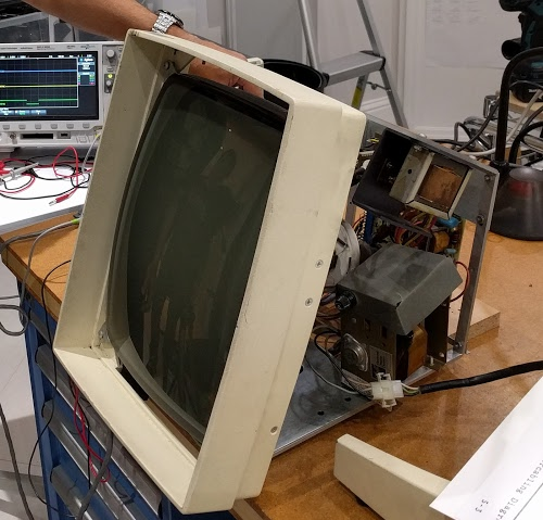 The Xerox Alto's monitor with the case removed.