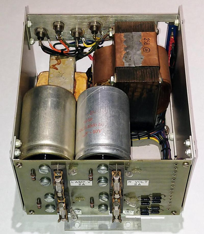 This section of the power supply reduces the line-voltage AC to low-voltage DC and AC.