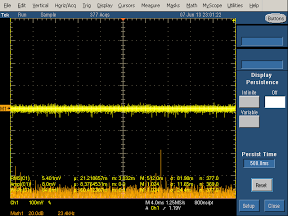 High frequency spectrum of the Mili charger with 12V input.