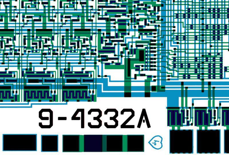 Chip art: HP inside a heart, below the part number 9-4332A