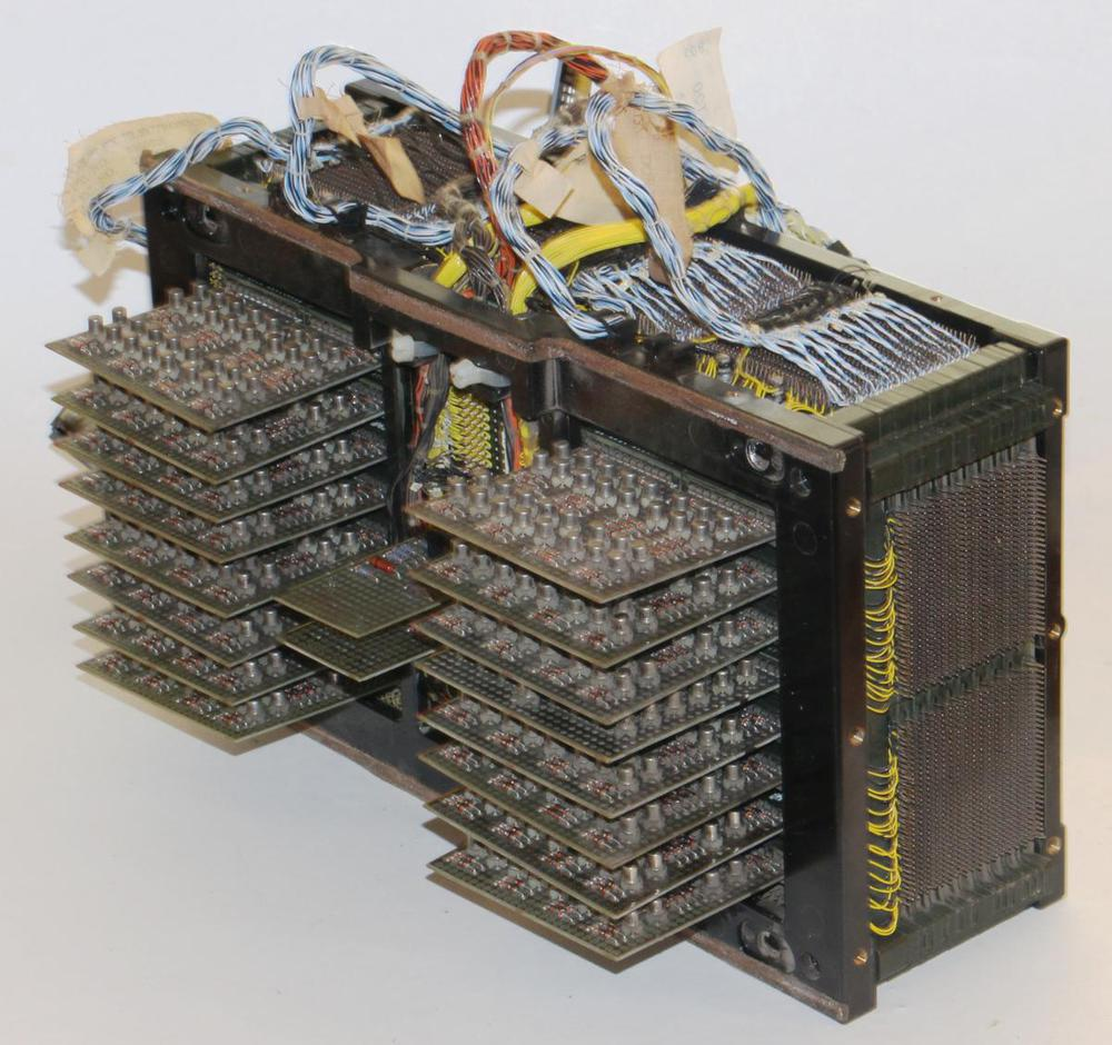 Core memory array with transistor driver boards.