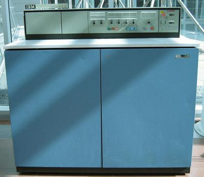 The low-end IBM System/360 Model 20 computer. The computer and its console were smaller than other systems in the S/360 line. Photo by Waelder, CC BY-SA 2.5.