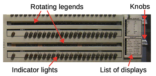 Multi-function rollers on the S/360 Model 40 allowed more data to be displayed on the console.