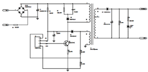 Thumbnail: Click for schematic of counterfeit iPad charger based on DB02A controller.