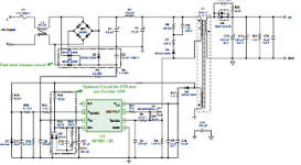 Thumbnail: Click for schematic of iPad charger based on iWatt 1691 controller.