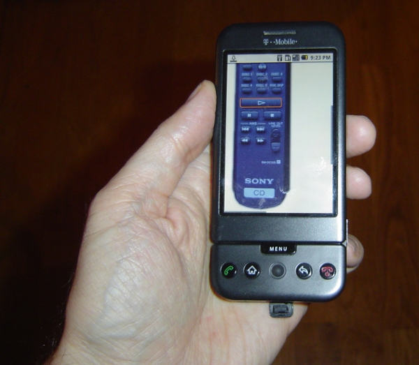 Remote control on G1 phone