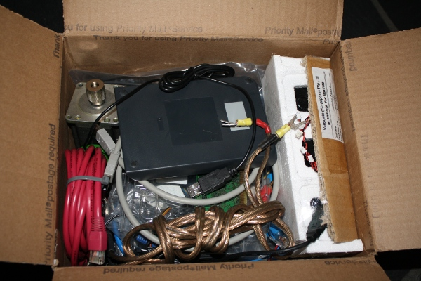 Inside the box of junk