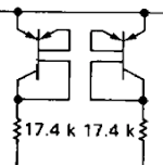 Symbol on the schematic for two strange transistors inside the LM108 op amp.