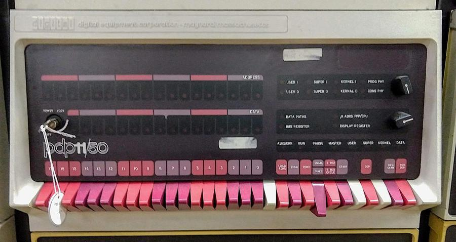 Console of the PDP-11/50 minicomputer.