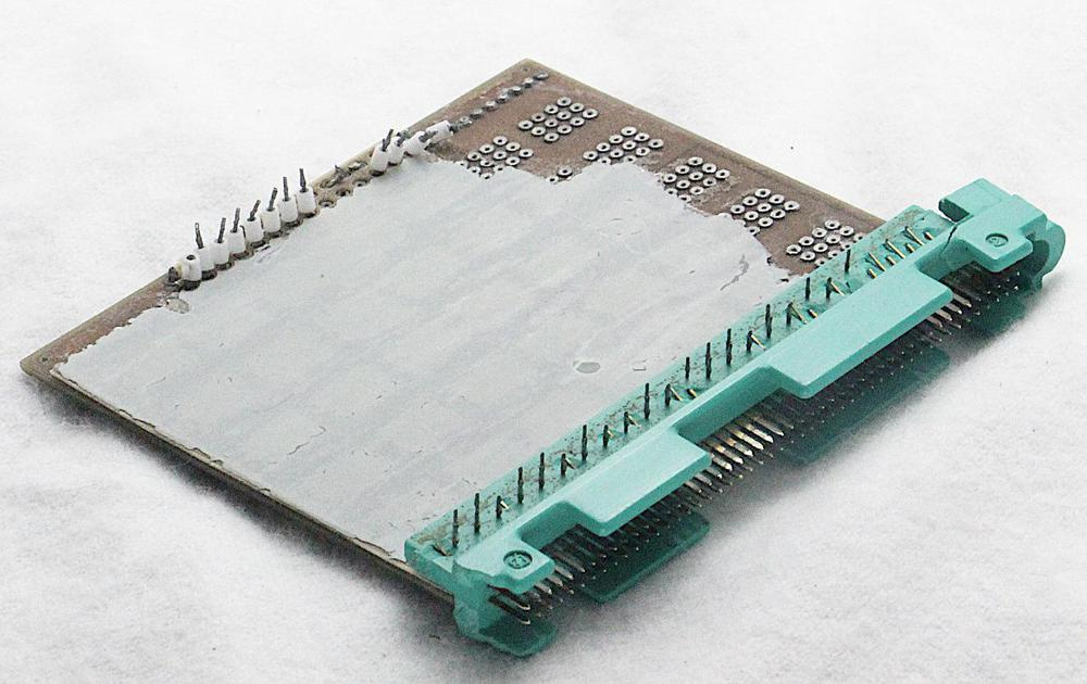 Back of the LVDA board. A second board was mounted on this side originally, but has been removed.