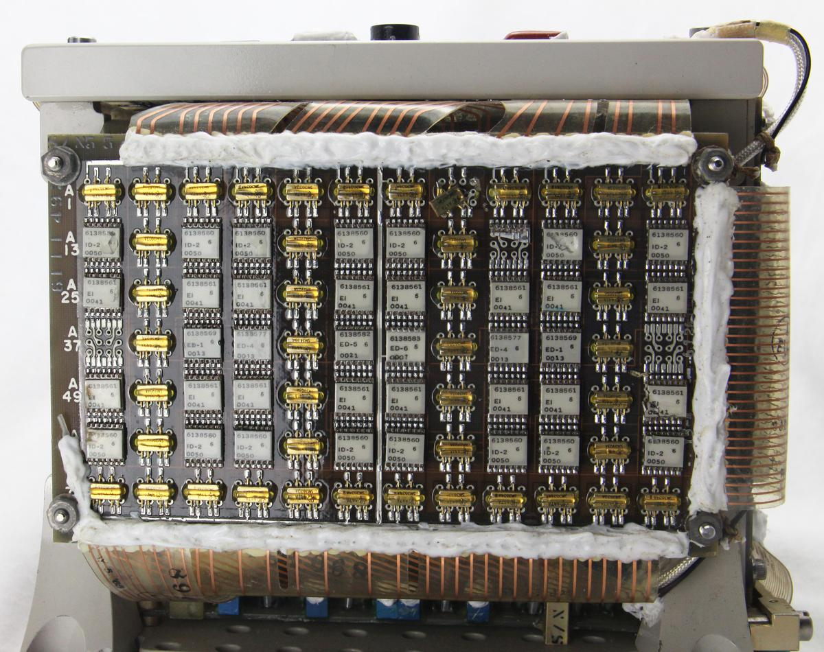 This board and the similar one underneath drive the X select lines in the core stack.