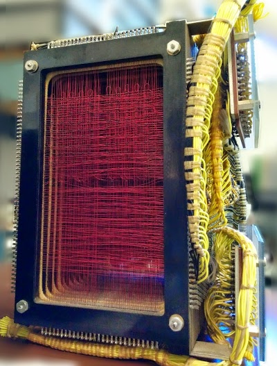 The 4000 character core memory module from the IBM 1401 computer.