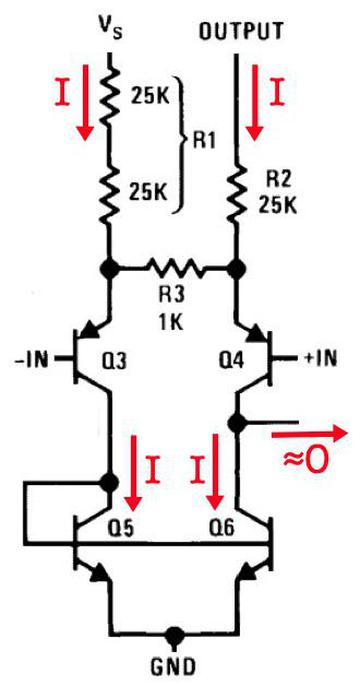 The LM380 with no signal applied. Schematic of the amplifier feedback network, from the LM380 datasheet.