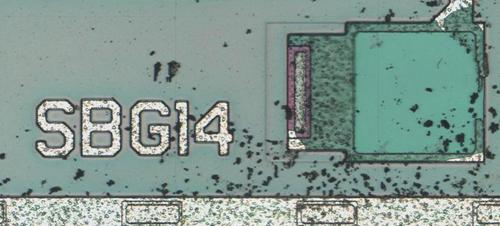 The die is labeled SBG14.
