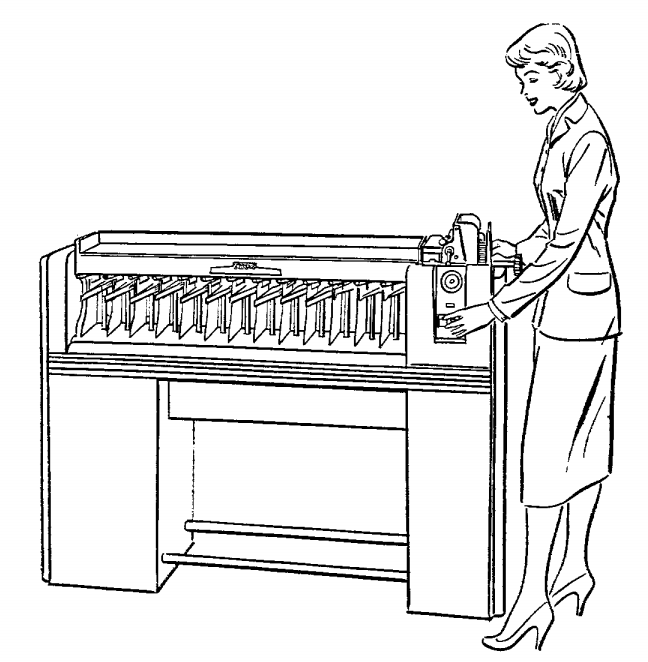 inside card sorters  1920s data processing with punched