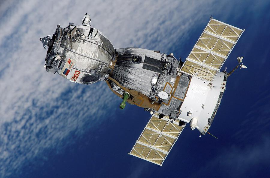 Soyuz TMA-7 spacecraft departing from the International Space Station, 2006. Photo from NASA.