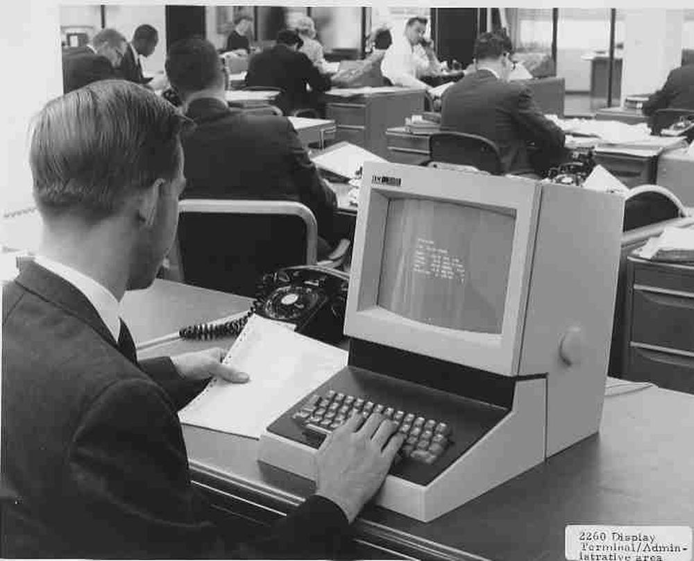 IBM 2260 Display Station. Photo from IBM via Frank da Cruz.