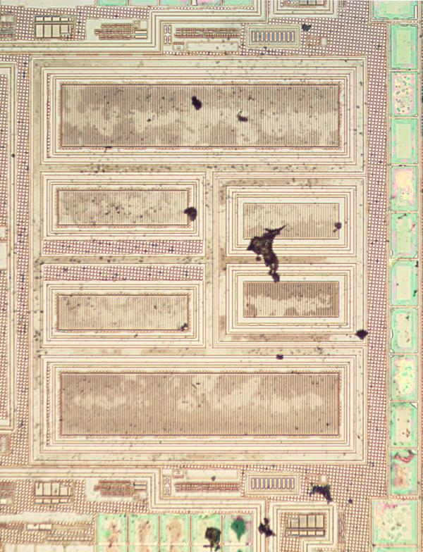 These large power transistors are on the left side of the secondary die photo.