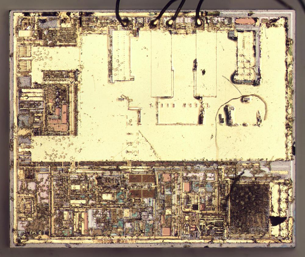 The primary-side die with some of the metal removed.