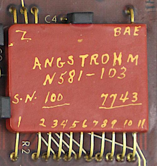 "The ""Angstrohm"" module has 11 numbered pins, 3 ""Z"" pins, and a ""BAE"" pin."