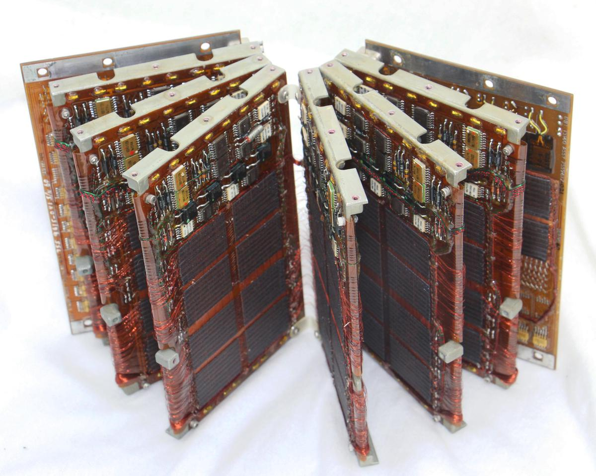 The core module unfolds like a book. The circuitry and core planes are on a flexible printed circuit board that is folded accordion-style and wrapped around metal carriers.