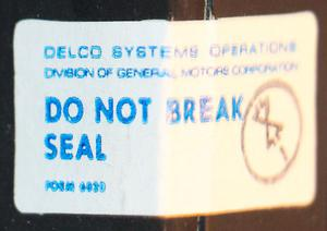 "The sticker says ""DO NOT BREAK SEAL"". I broke the seals."