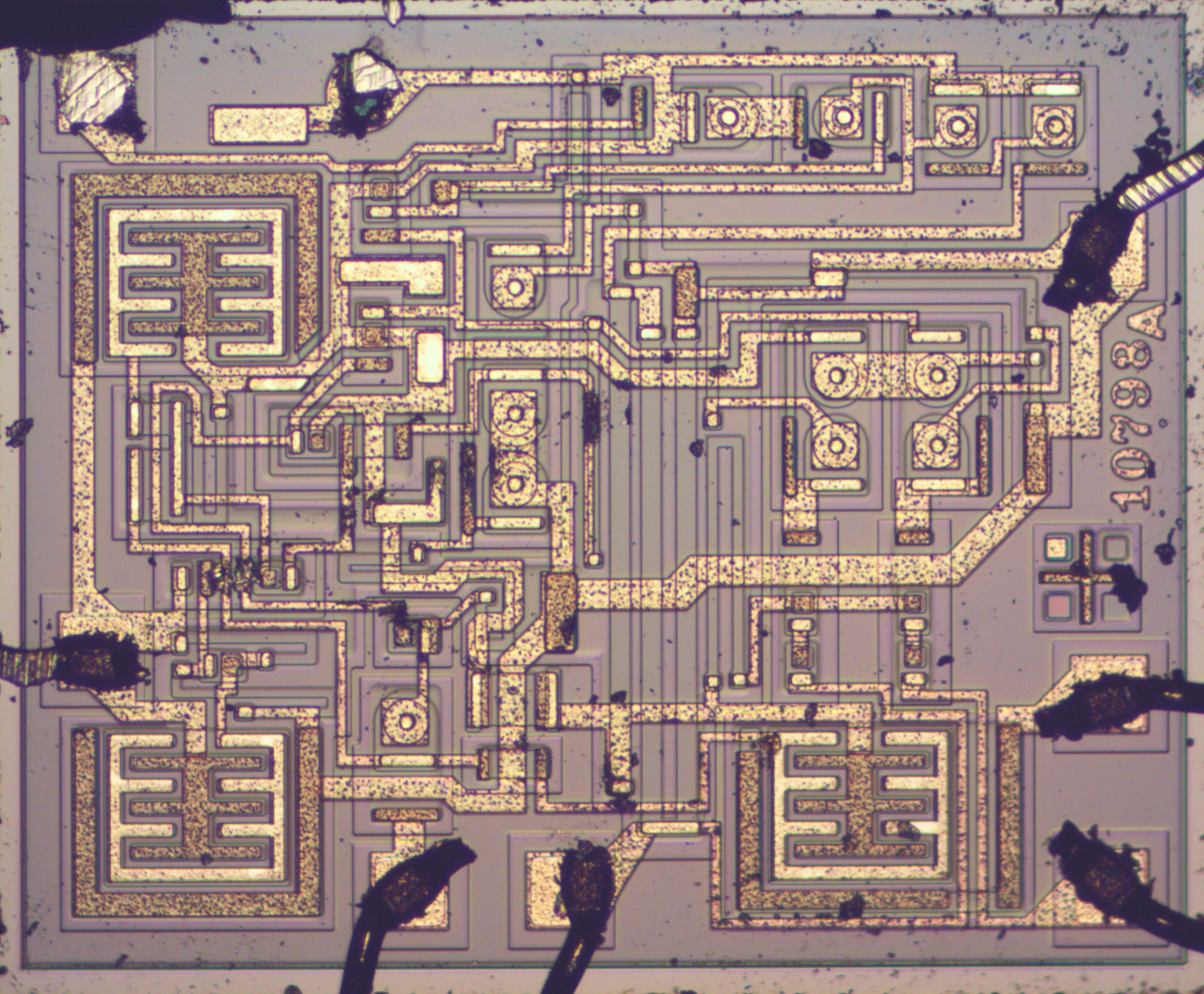 555 Timer Teardown Inside The Worlds Most Popular Ic Vertical Pin Out Data Die Photo Of