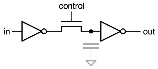 A simple pass-transistor circuit.
