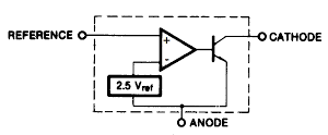 TL431 block diagram from Fairchild datasheet