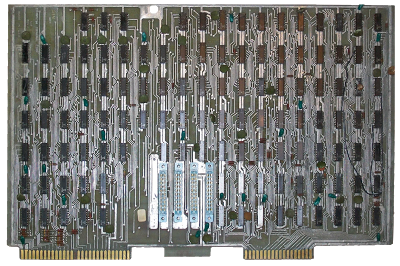The processor board from the Datapoint 2200. The 8008 was built to replace this board. Photo courtesy of zuigadrummer.