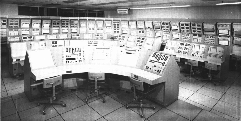 ACE control room. From Applicability of Apollo Checkout Equipment.