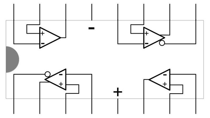 Reverse-engineered pinout of the chip.