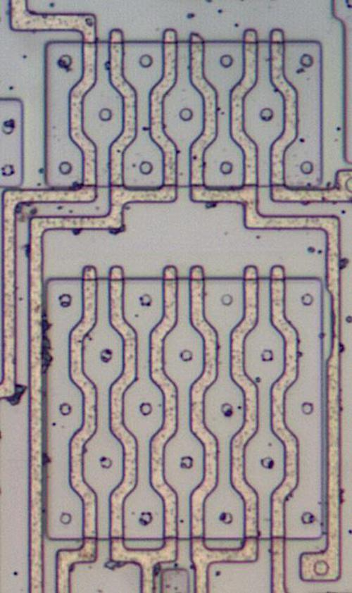 Die photo of the multiplexer.