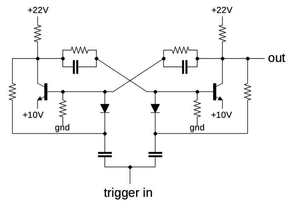 Schematic of the circuit in the thin-film module.