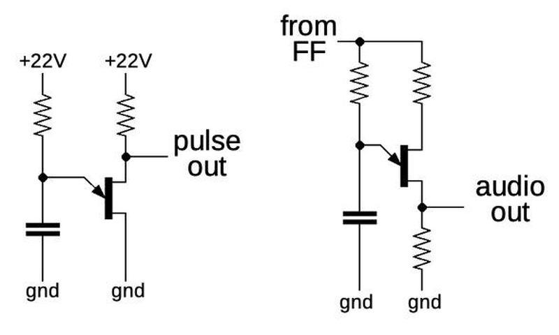 Schematic of the unijunction transistor oscillators.