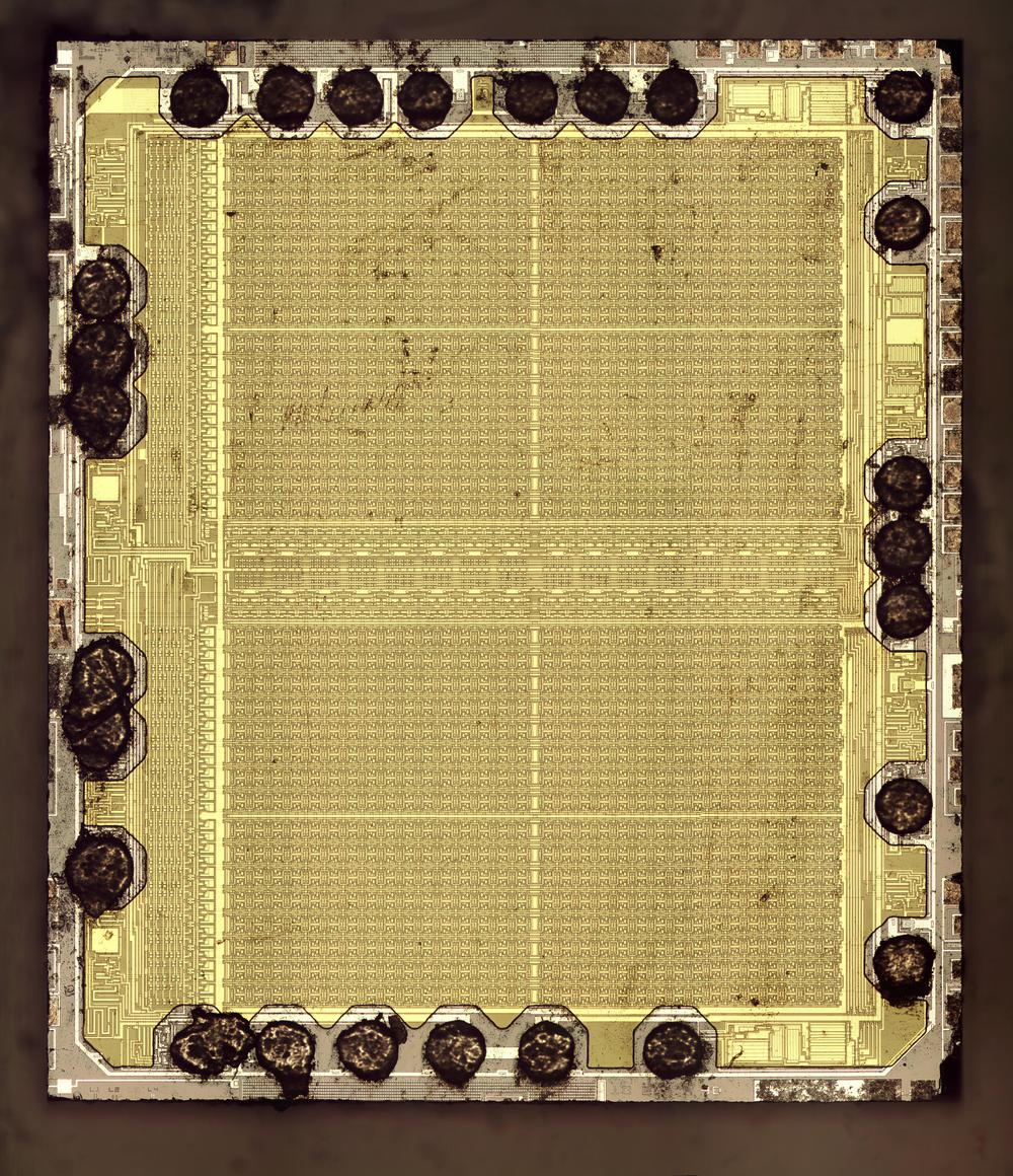 Die photo of the 2-kilobit chip.