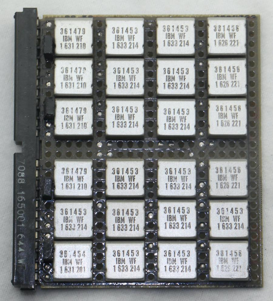 A logic board using SLT modules. (The display box labeled this as an MST board though.)