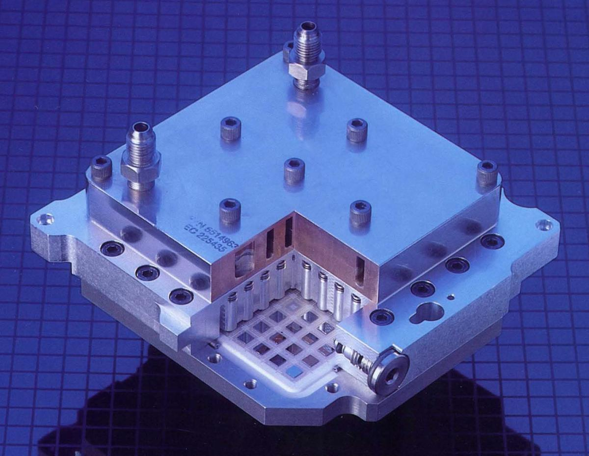 This cut-away image from IBM shows the internal construction of a TCM.