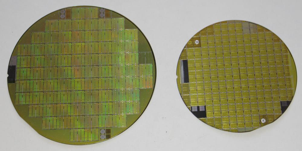 The two silicon wafers.
