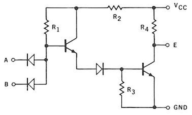 Schematic of a Fairchild Micrologic DTL gate from the databook.